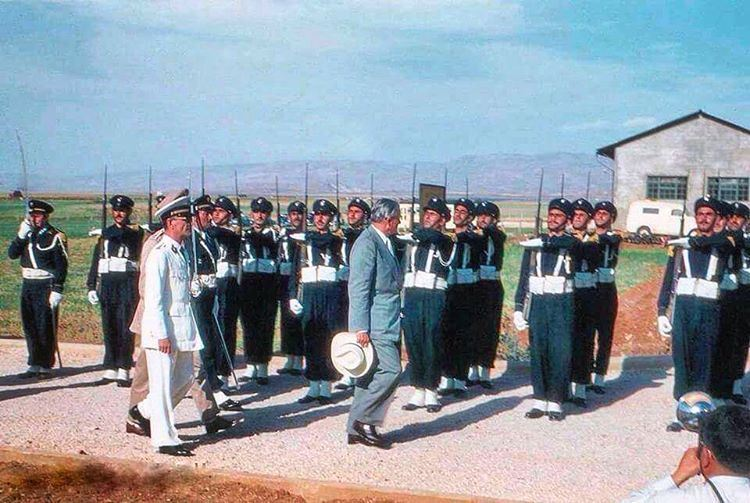 President Chamoun & The Honor Guards #Bekaa 1956