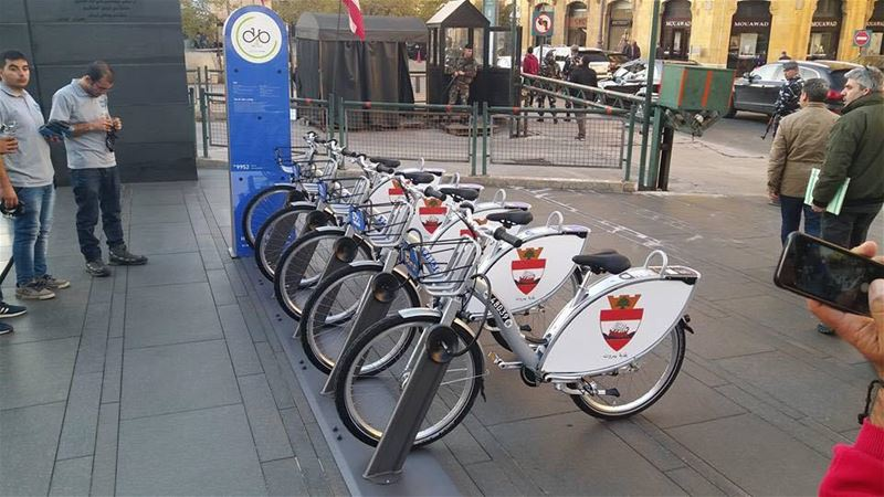 First Bike Sharing Station in Beirut (Beirut, Lebanon)