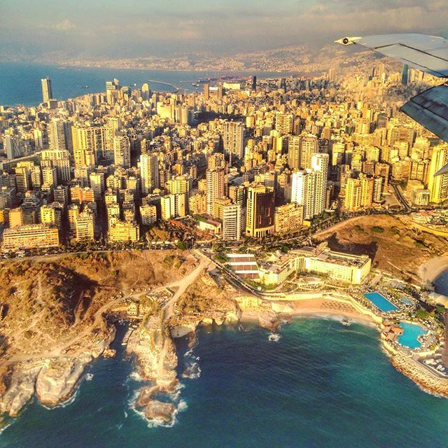 Beirut from plane