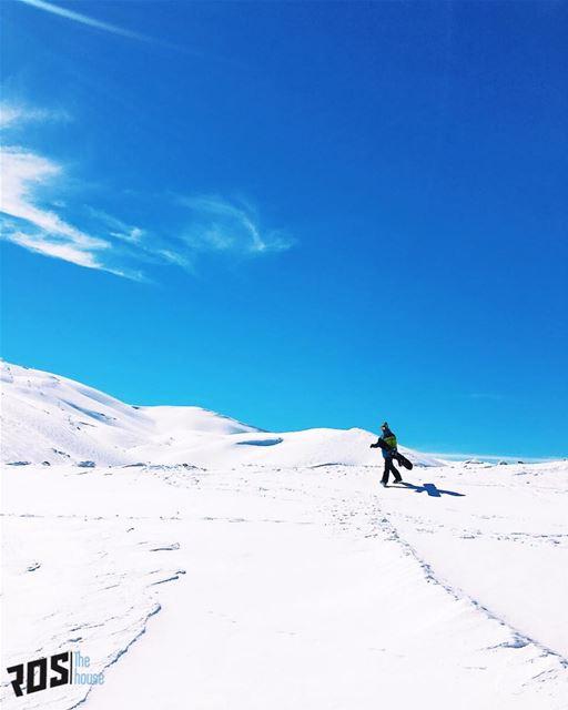 Just another walk in the park 🚶🏻.. casualpowpow ... (Mzaar Ski Resort)