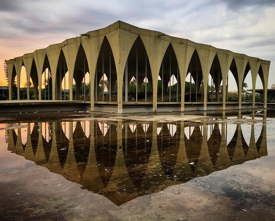 Structural perfection when built from nature. architecture oscarniemeyer... (Tripoli, Lebanon)
