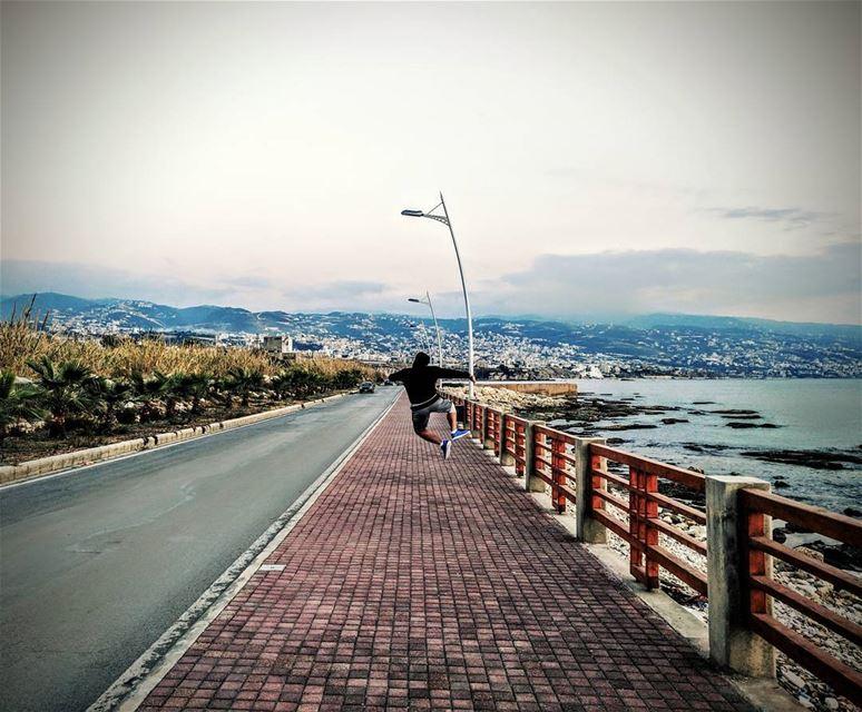 That victory jump 😁 victory jump lebanon lebanoninapicture ... (Amchitt, Mont-Liban, Lebanon)