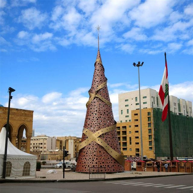 We love Beirut's Christmas tree this year, in spite of the fact that it's... (Beirut, Lebanon)