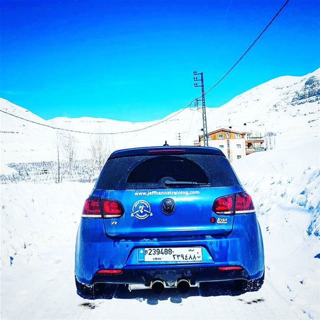 Not only a racing beast, but also a snow machine! Jeffhannatraining ... (Faraya, Mont-Liban, Lebanon)