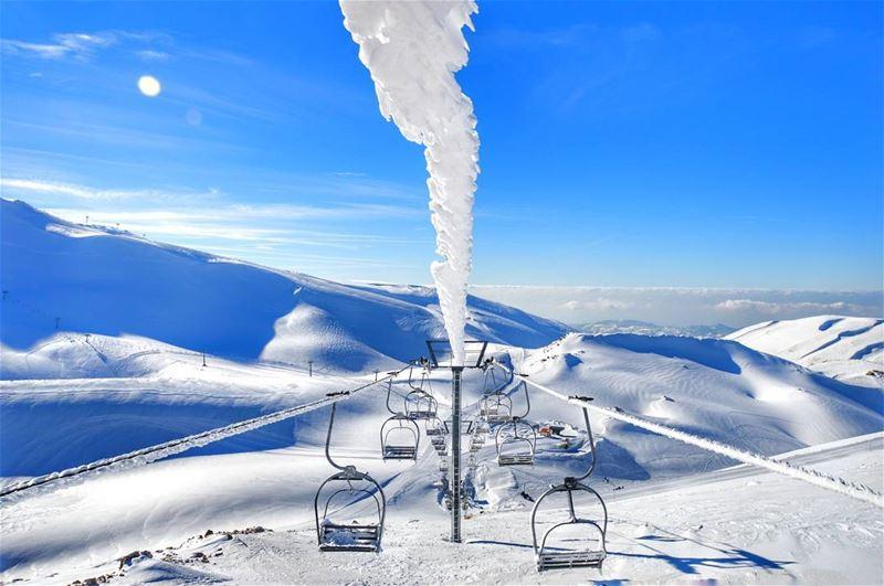 After every storm,The sun always shines❄❄..... snow sky blue... (Kfardebian)