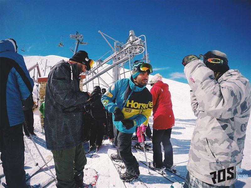 """""""Whatchu say? Slopes are dope?!"""" Harmonizing on the slopes and spitting... (Mzaar Ski Resort)"""