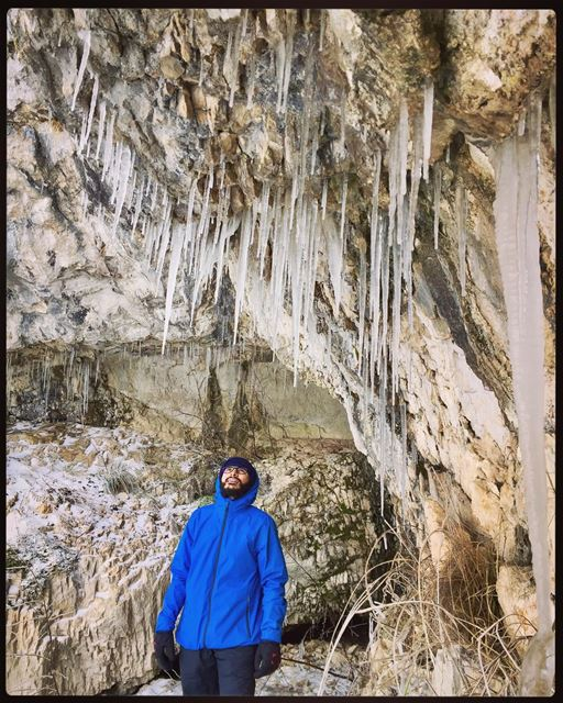 Man of the caves!.... coldcaves extremcold freezing explorecaves ... (Wata El Joz)