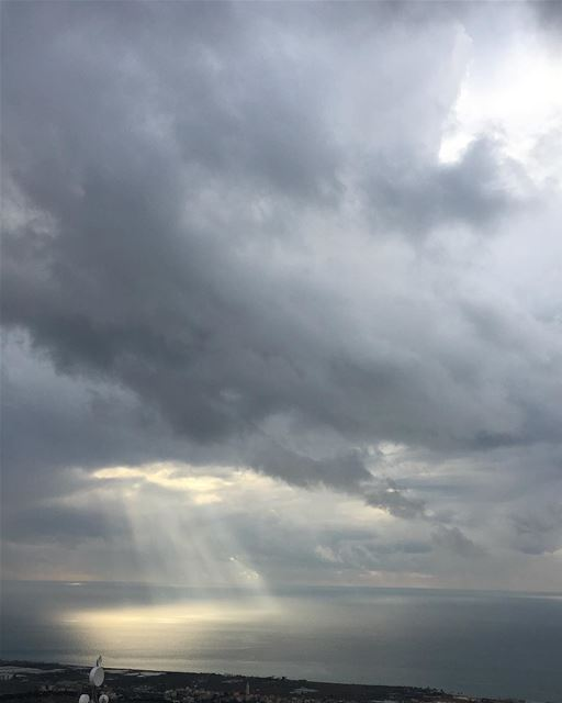 lebanon beirut nature sky clouds sea winter storm light heaven ...
