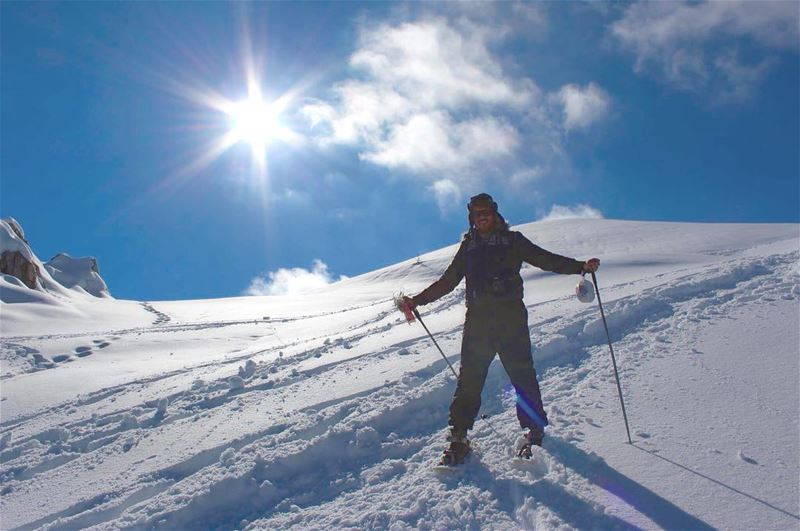 snow sunnyday friend smile sun happy lebanonmountain lebanon ... (El Laqloûq, Mont-Liban, Lebanon)