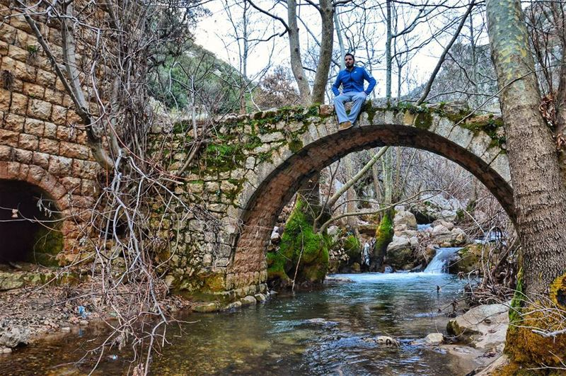 🌳🌳.... nature naturelover natural bridge river winter hike hiking... (Kfarhilda, North)