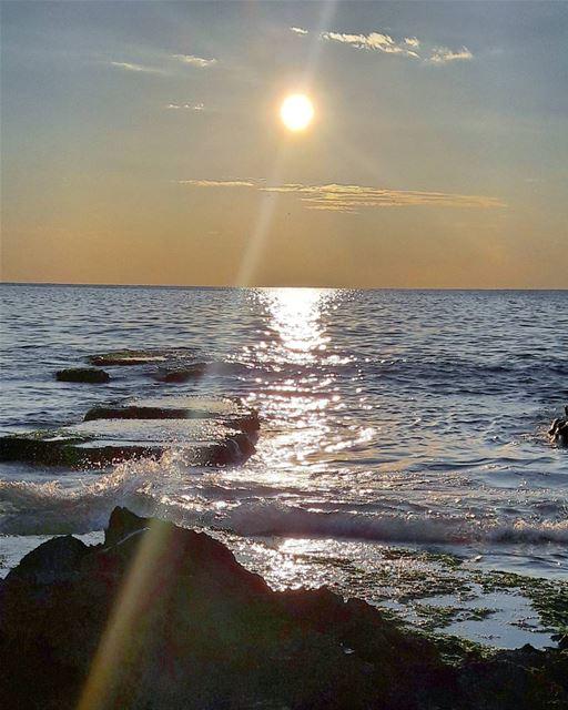 Sunset from AbdelWahhab island 🌅 Beach Abdelwahhab_Island Island ... (جزيرة عبد الوهاب)