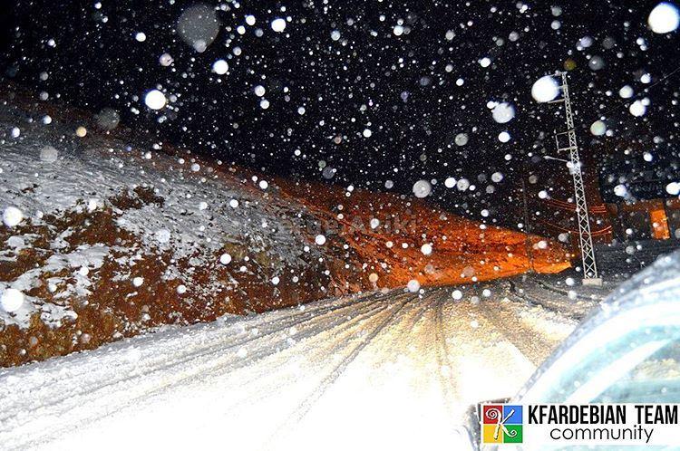 Wight Night from Kfardebian ❄❄ ... @sergeakiki    KfardebianTeam ... (Mzaar Ski Resort Kfardebian)