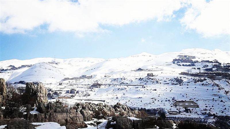 تلوج فقرا - كفردبيان (📷@carla.abi.chahla) Lebanon faqra Kfardebian ...
