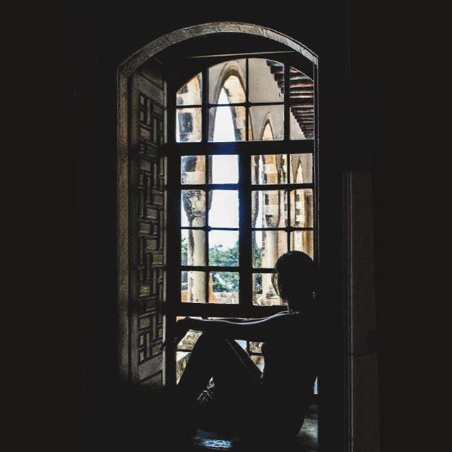 Arches & Windows. beiteddine window arch bars arabesque architecture... (Beiteddine Palace)