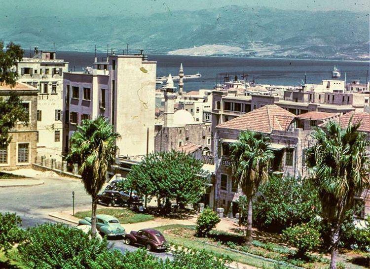 Beirut Photo Taken From Grand Serial 1952 .