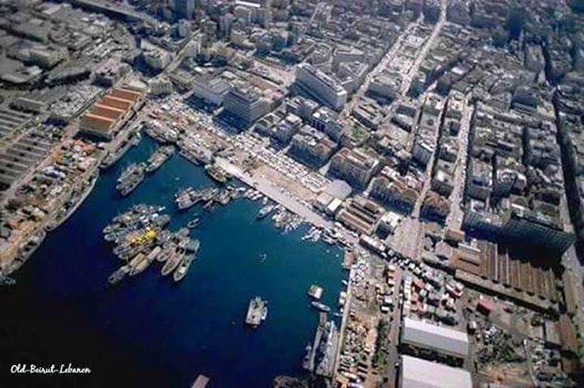 Beirut Aerial View 1973 , Port Of Beirut - Martyrs Square - Weygand St - Foch St - Saifi - BeirutSouks