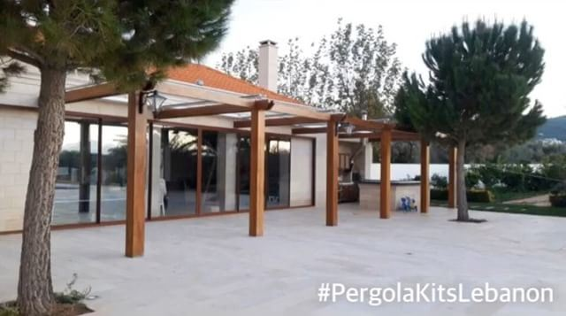 Residential Pergola made in Zahle by PergolaKitsLebanon. Iroko Wood ... (Zahlé, Lebanon)