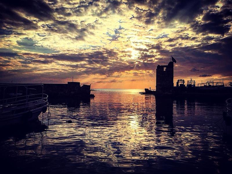 byblos livelovebyblos clouds sea water boats seaworld sunset ... (Byblos - Jbeil)