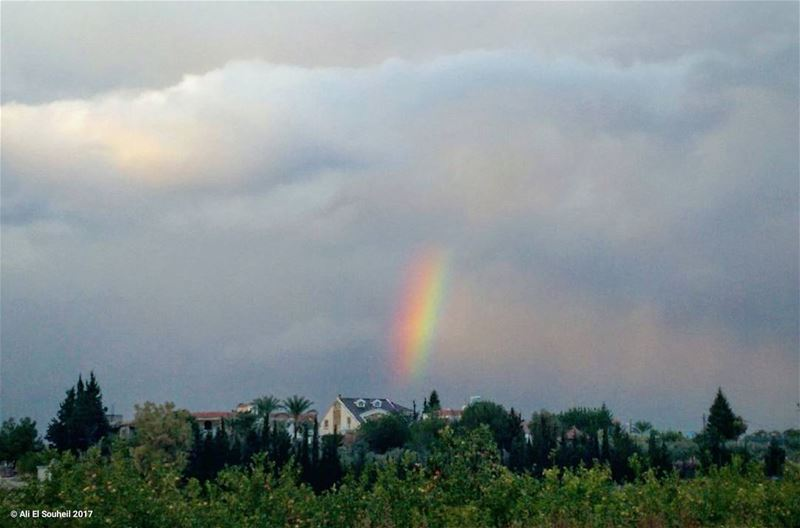 tb  winter  rainbow  southlebanon  clouds  village  sky  lebanon ... (Khorbet L Dweir)