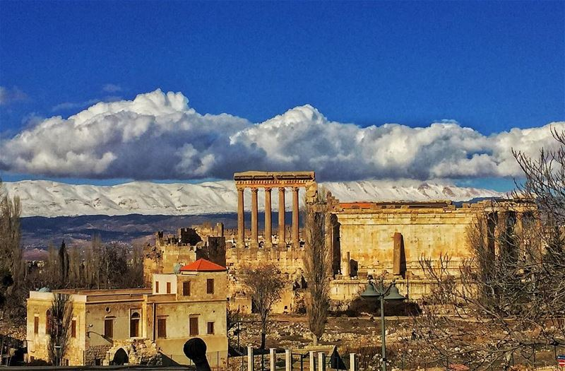 ... Forgot the morning view! palmyrahotel Baalbek Lebanon @baalbeckpalm (Baalbeck Palmyra Hotel)