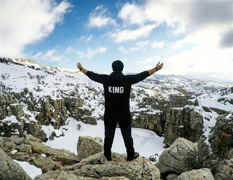 Never forget who you are...  KING 🔱 Hiking  Snow  SnowHike  OnTop ... (Majdel Tarchich)