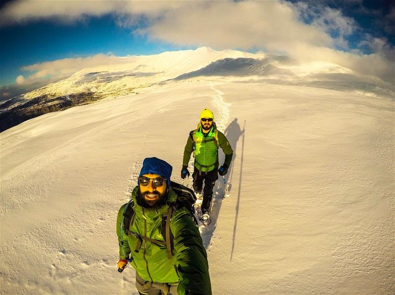 Weather treat..... gopro snow snowshoes thenorthface fuseform ... (Zaarour)