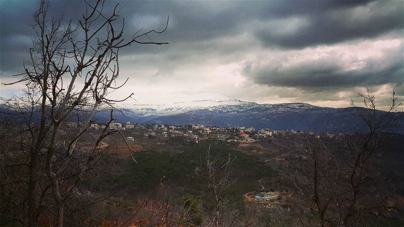 storm ahead cold winter clouds snow mountains sannin ig_lebanon ... (Mtein)