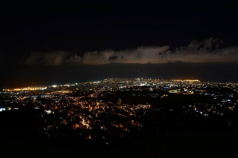 Night view of Beirut nightshot nightcity nightcityscape beautiful ... (Ras Al-Jabal Aley,Mount Lebanon)