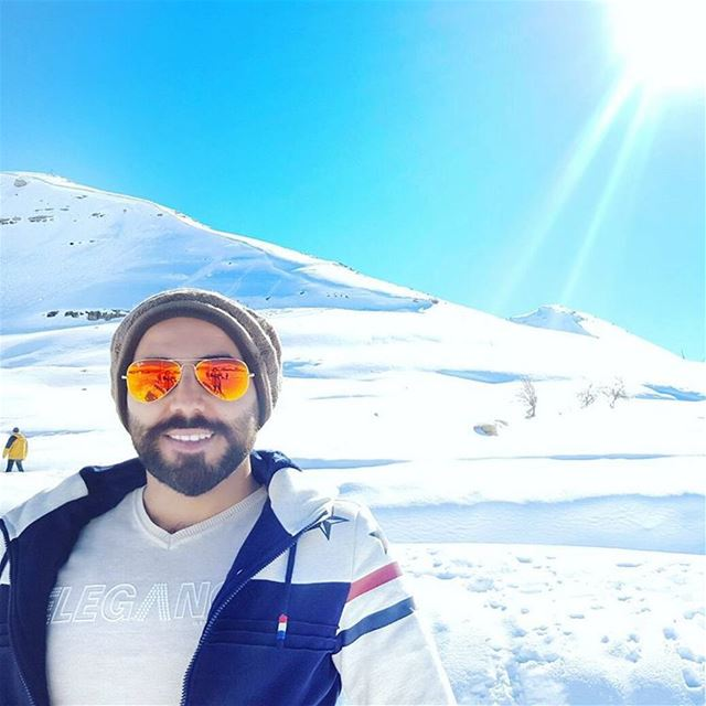 🖐❄⛄ snow❄⛄ snow sun lebanon sky blue mountain snow❄ snowday ...