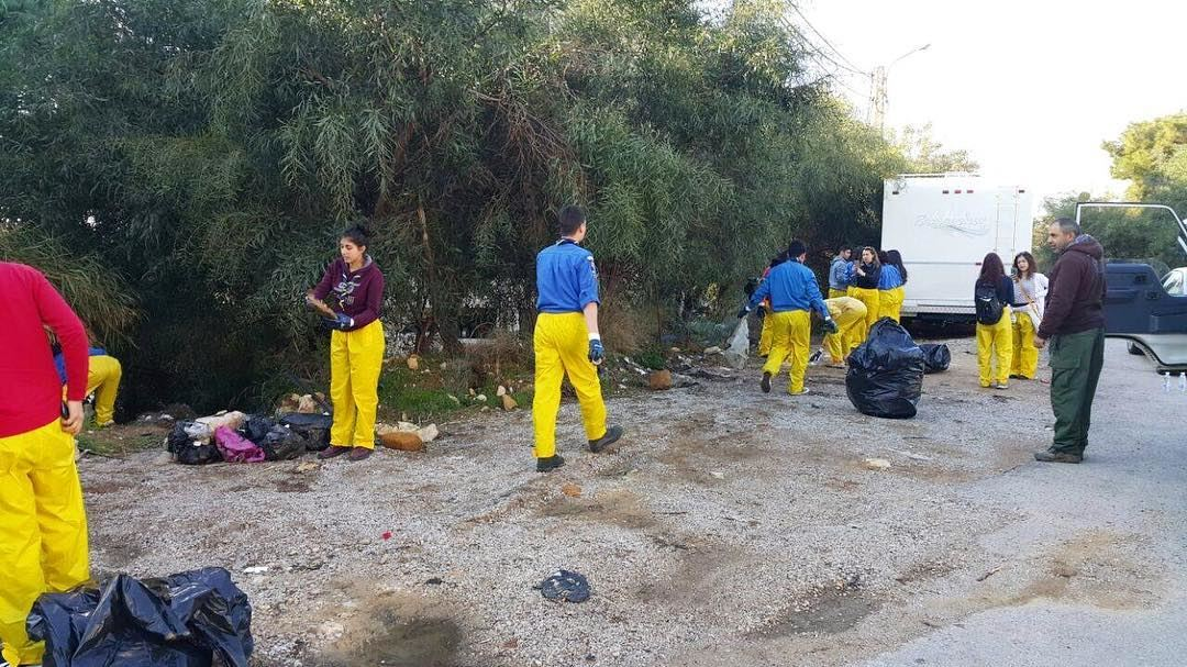 The sunshine squad of ecowarriors!! Check out our new protective gear... (Fanar, Mont-Liban, Lebanon)