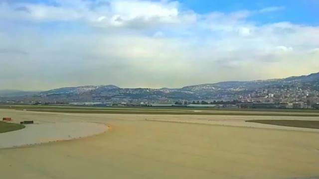 takeoff plane runway city clouds mshyperlapse qatarairways A330 ...