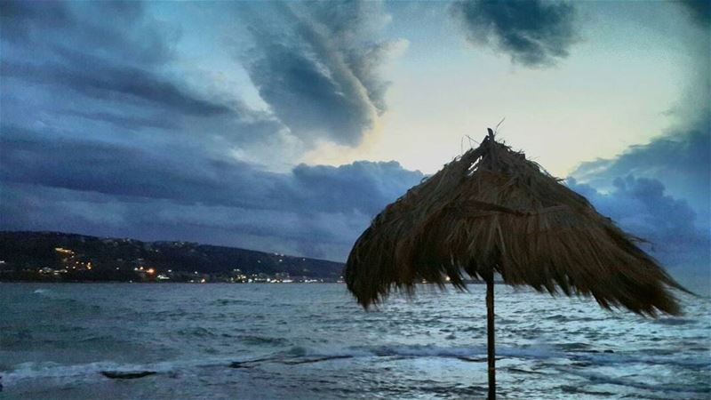 × There's no better sound to hear than the ocean, the wind and the rain... (El Mîna, Liban-Nord, Lebanon)