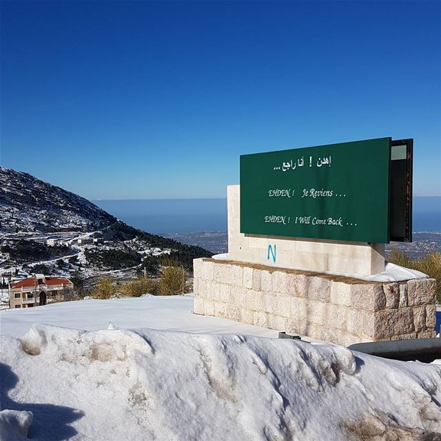 ehden madeinehden lebanon snow liveloveehden livelovebeirut اهدن_انا