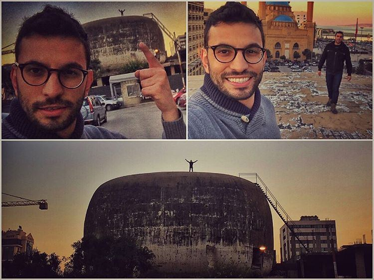 And we made it up there... On top of Beirut Oval Theater... ... (Beirut, Lebanon)