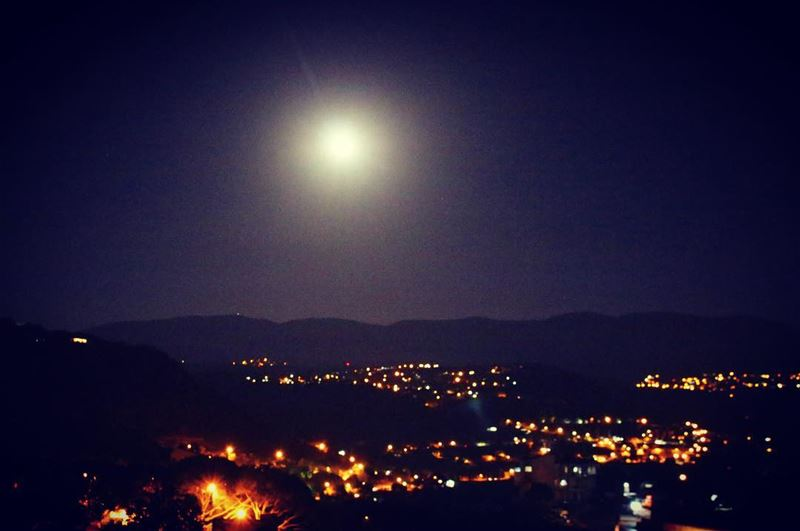 with all the darkness in the world there is always a spot of light ... (Mount Lebanon Mountain)