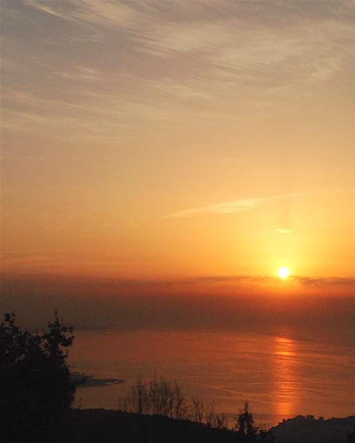 Enjoy every sunset 🌅Look forward to every Sunrise 🌄 sunrise afternoon ... (El Kfour, Mont-Liban, Lebanon)