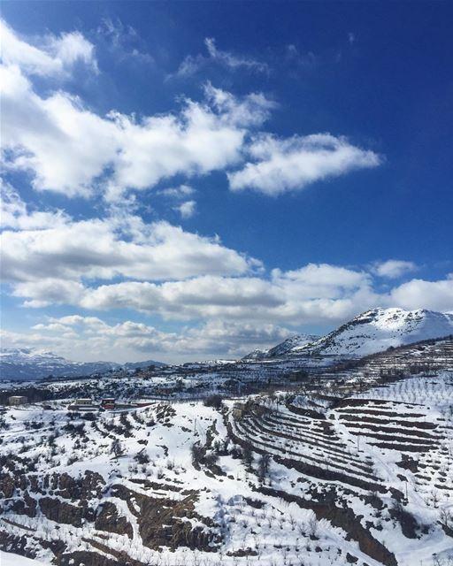 The white side of 🇱🇧 lebanon laqlouq sunday white wonderland ... (El Laqloûq, Mont-Liban, Lebanon)