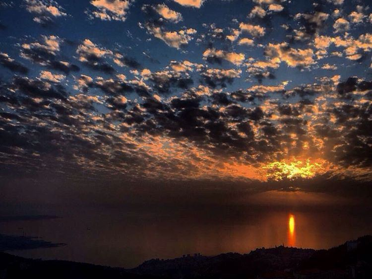 A camera is a save 💾 button for the mind's eye 👀 sunset capture the ... (El Kfour, Mont-Liban, Lebanon)