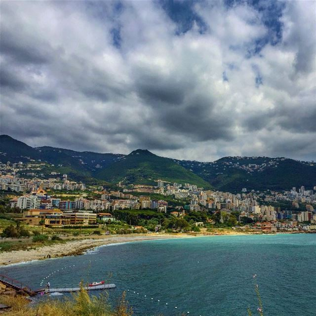 Angry clouds over the bay ⛈ december vibes afternoon by sea jounieh ... (El Maâmelteïne, Mont-Liban, Lebanon)