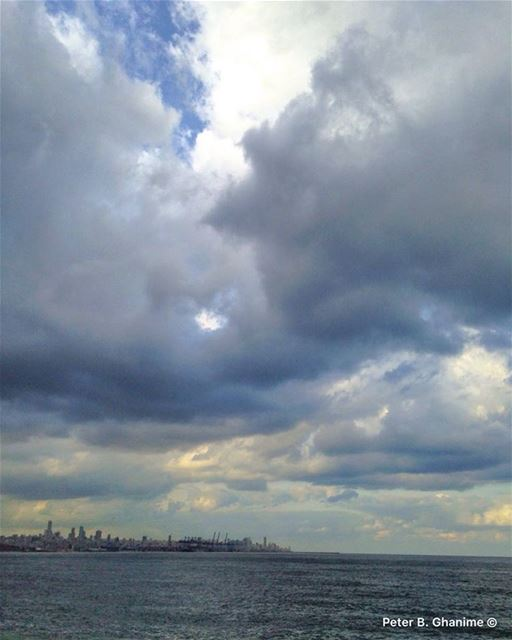 Clouds come floating into my life, no longer to carry rain or usher storm,... (Waterfront City)
