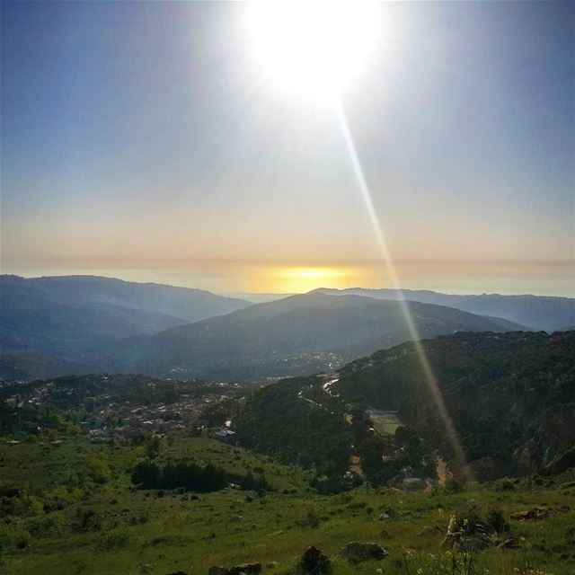 Beirut From the top of ... (Falougha, Mont-Liban, Lebanon)
