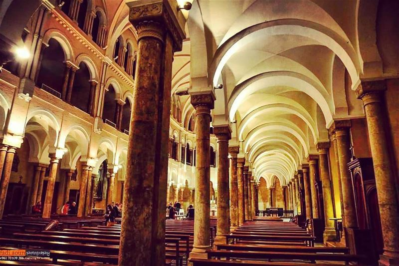 photo  fadiaounphotography  cathedral  beirut  lebanon  arches  coluns ...