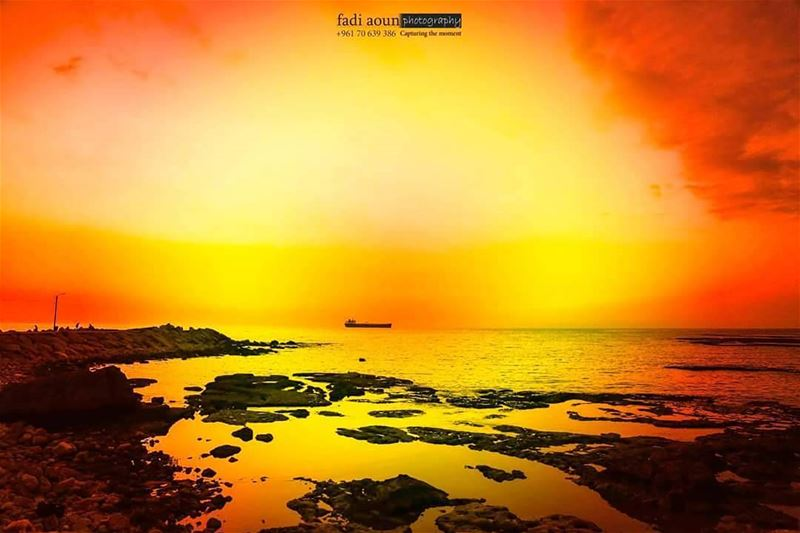 photo fadiaounphotography sunset sea seascapes byblos lebanon sky ...