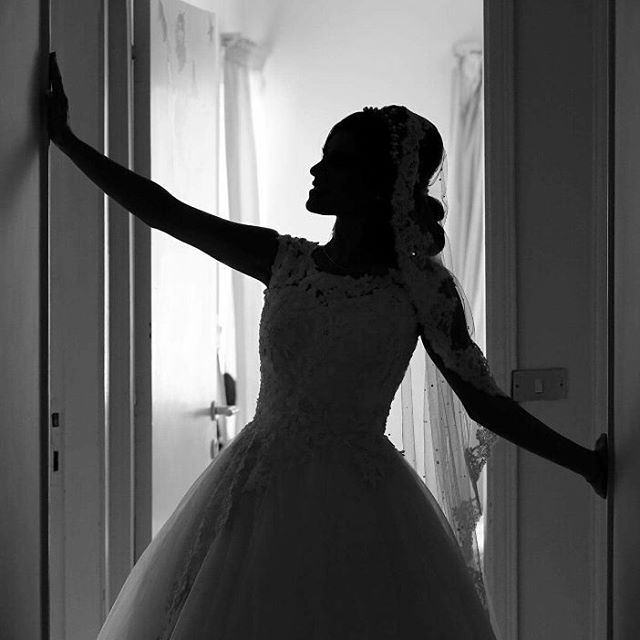 photo fadiaounphotography silhouettes girl bride wedding light ...