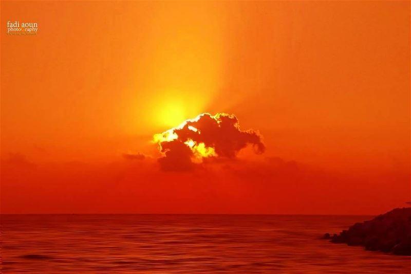 photo fadiaounphotography beirut sunset sea cloud lebanon ...