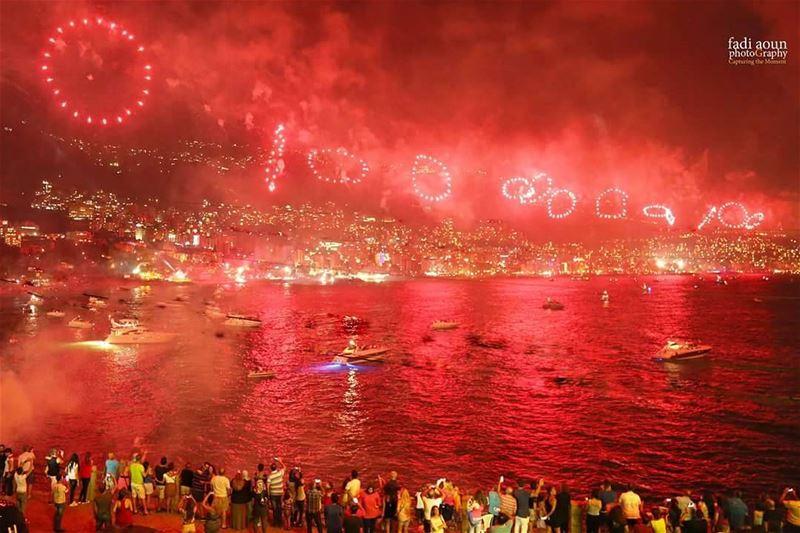 photo fadiaounphotommgraphy fireworks seascape sea jounieh lebanon ...