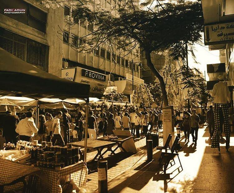 photo fadiaounphotography sepia streets beirut hamra leabanon ...