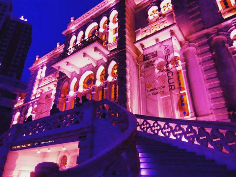 photo fadiaoun @faaoun architecture musuem lights lebanon ...