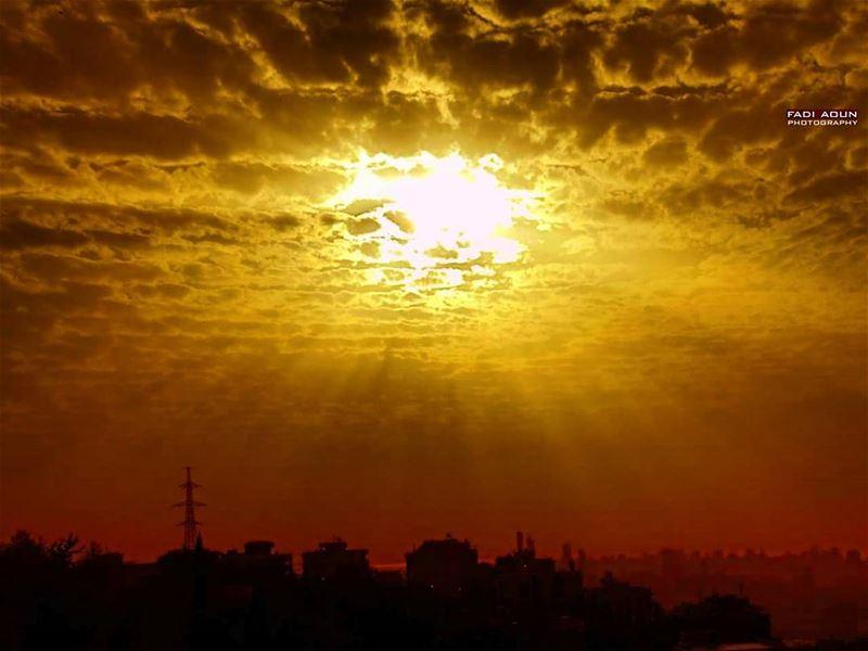 photo fadiaoun @faaoun sunset beirut lebanon sky skyline ...