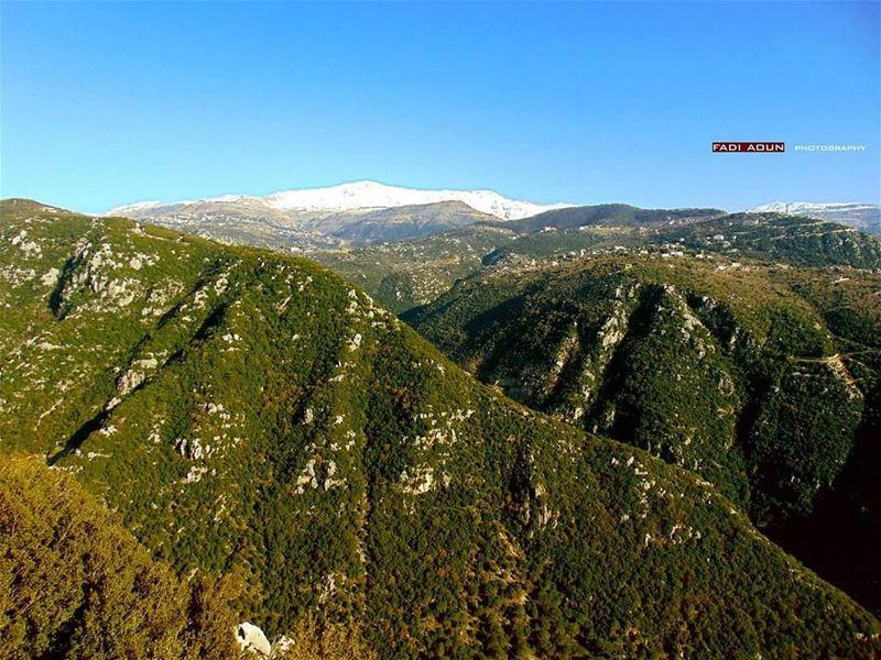 photo fadiaoun @faaoun nature lebanon mountains green snow sky ...